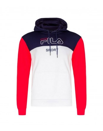 Sweat Homme FILA Willow Marine Blanc Rouge