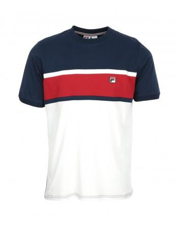 Tshirt Homme FILA Conte Blanc Bleu Rouge