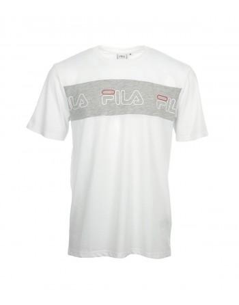 Tshirt Homme FILA Aki Blanc et Gris Clair