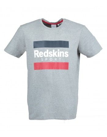 Tshirt Homme Redskins Spear Calder Gris