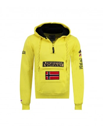 Sweat Homme Geographical Norway Gymclass Color Fluo Jaune
