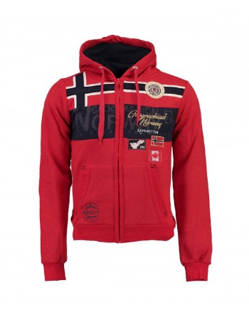 Sweat Homme Geographical Norway Garadock Rouge