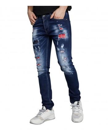 Jeans Homme Redskins Steed Graph Bandana Destroy