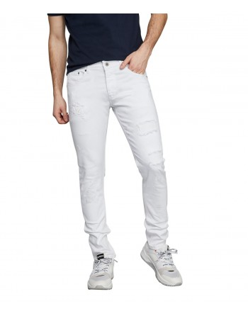 Jeans Homme Redskins Steed Graph White Destroy