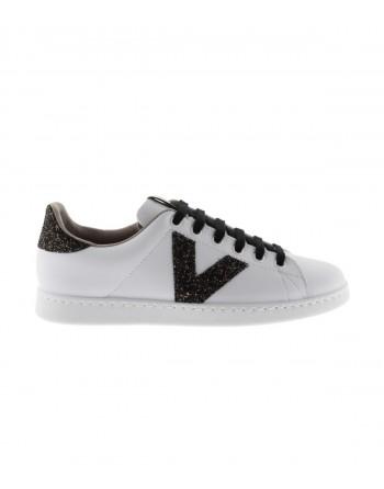 Basket Femme Victoria 1125244 Blanc et Noir