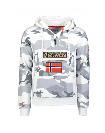 Sweat Homme Geographical Norway Gymclass Camo Gris
