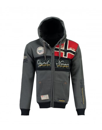 Sweat Homme Geographical Norway Flyer 007 Gris