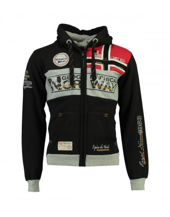Sweat Homme Geographical Norway Flyer 007 Noir