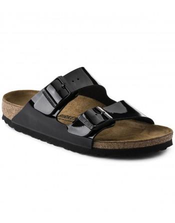 Sandale Femme Birkenstock Arizona Vernis Noir