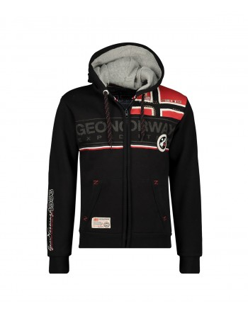 Sweat Homme Geographical Norway Flipper Noir
