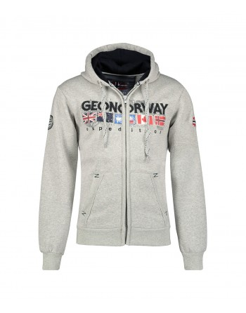 Sweat Homme Geographical Norway Gouky Gris Clair