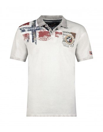 Polo Homme Geographical Norway Kamo 415EO Gris Clair