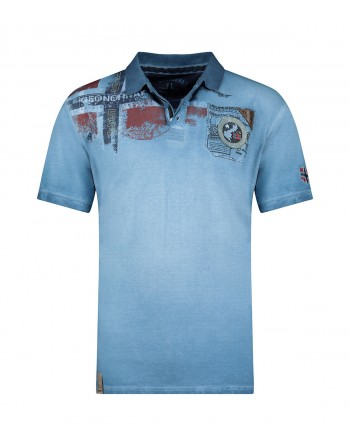 Polo Homme Geographical Norway Kamo 415EO Bleu