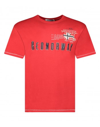 Tshirt Homme Geographical Norway Jason Rouge