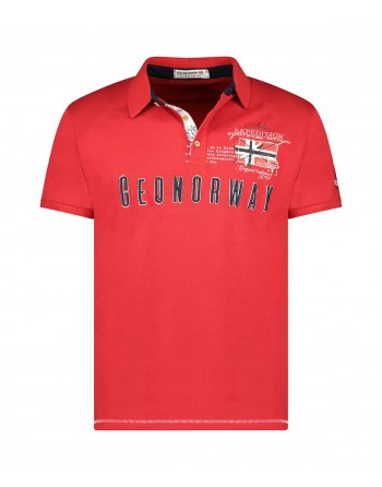 Polo Homme Geographical Norway Kason Rouge