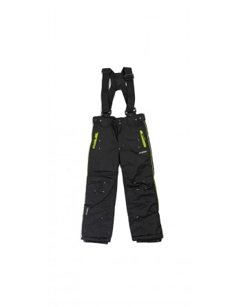 Pantalon De Ski Fille Anapurna Whistle Noir Et Anis