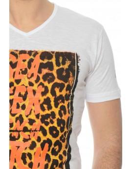 Tshirt Gangster Unit Jassume Blanc et Orange