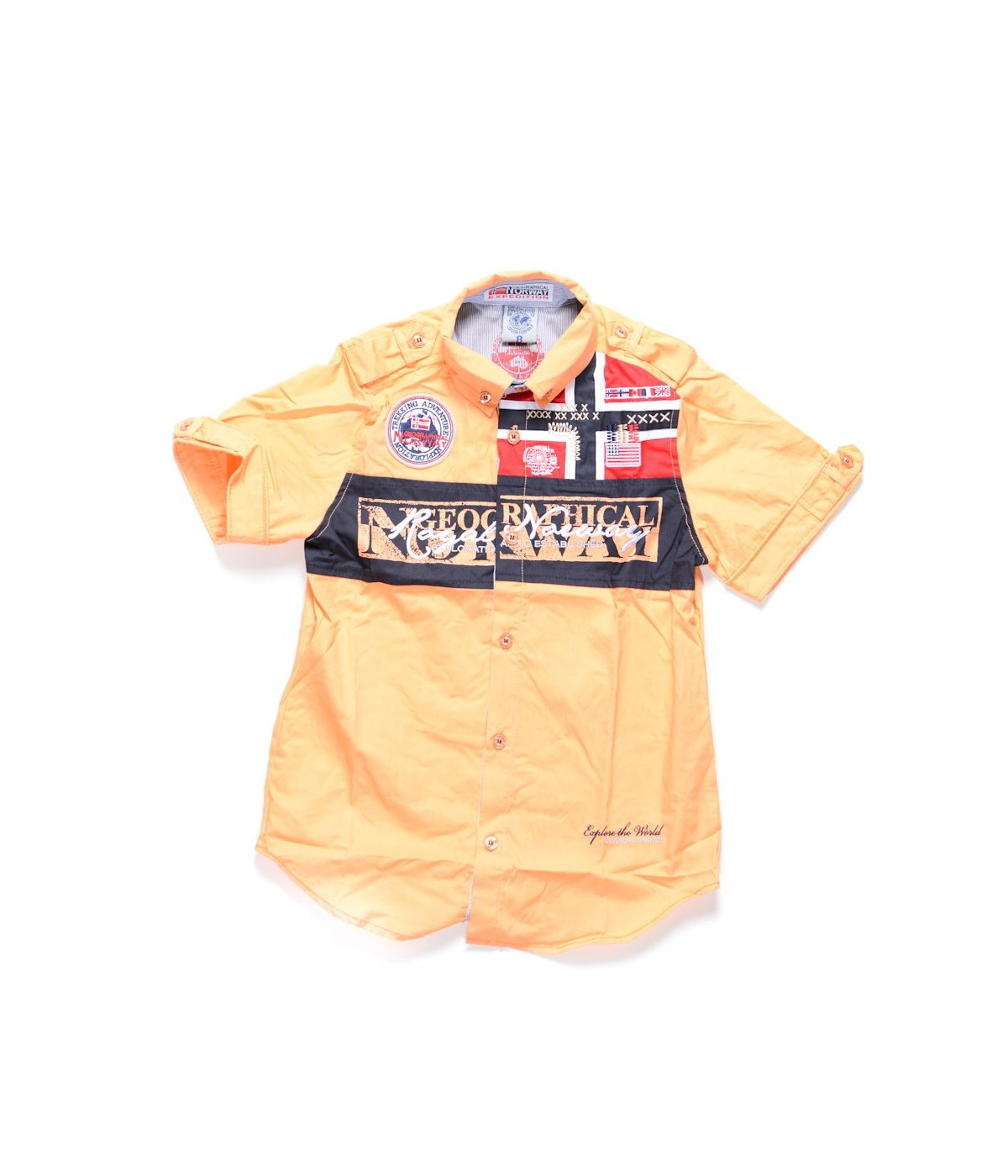 Chemise Manches Courtes Geographical Norway Zyer Orange