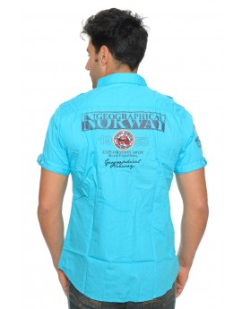 Chemise Manches Courtes Geographical Norway Zyer Turquoise