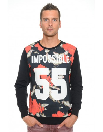 Sweat Homme Col Rond Celebry Tees Impossible Noir 006