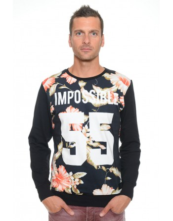 Sweat Homme Col Rond Celebry Tees Impossible Noir 008