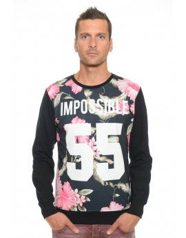 Sweat Homme Col Rond Celebry Tees Impossible Noir 009