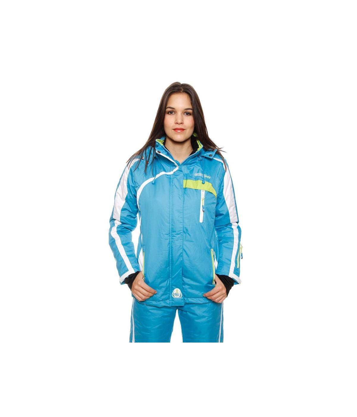 Blouson de Ski Geographical Norway Wanda Turquoise