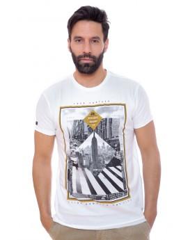 Tshirt Homme Deeluxe 74 Slide Blanc