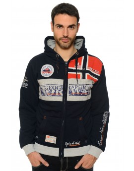 Sweat Homme Geographical Norway Flyer Noir