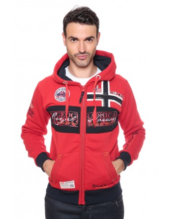 Sweat Homme Geographical Norway Flyer Rouge