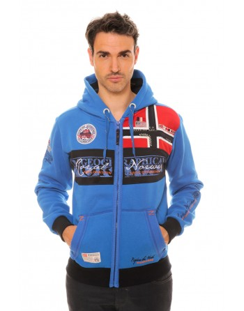 Sweat Homme Geographical Norway Flyer Bleu