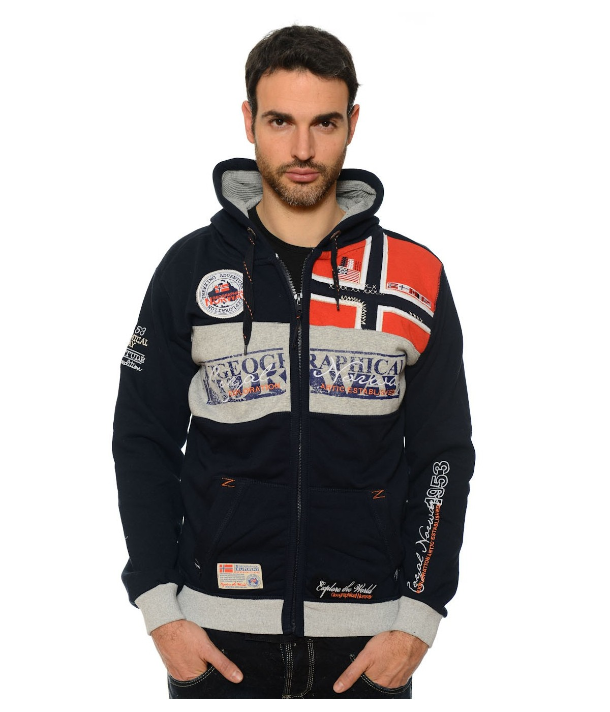 Sweat Homme Geographical Norway Flyer Marine