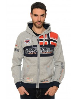 Sweat Homme Geographical Norway Flyer Gris Clair