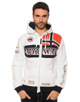 Sweat Homme Geographical Norway Flyer Blanc