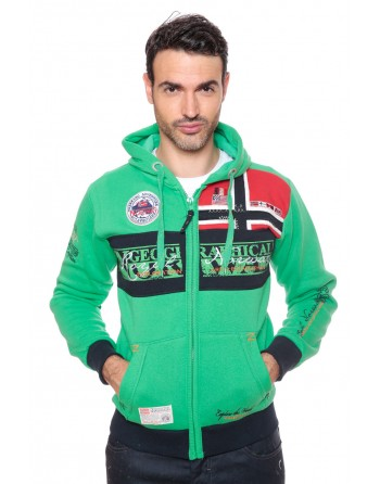 Sweat Homme Geographical Norway Flyer Vert